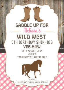 60 off western girl birthday invitations shop now to save zazzle