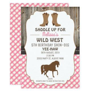 Horse Birthday Party Invitations Announcements Zazzle