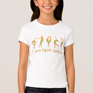 GIRLS - I love figure skating, melon T-Shirt