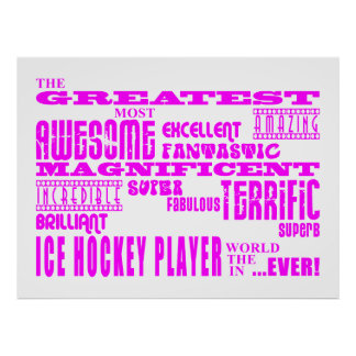 Girls Ice Hockey : Pink Greatest Ice Hockey Player Poster
