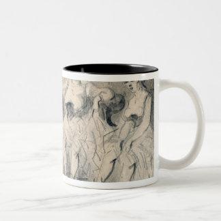 Girls in a Bordello Two-Tone Coffee Mug