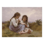 Girls in a Meadow Poster