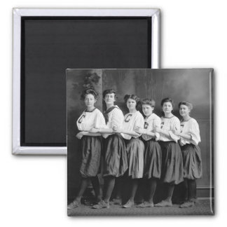 Girls in Bloomers, early 1900s 2 Inch Square Magnet