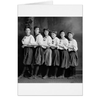 Girls in Bloomers, early 1900s Card