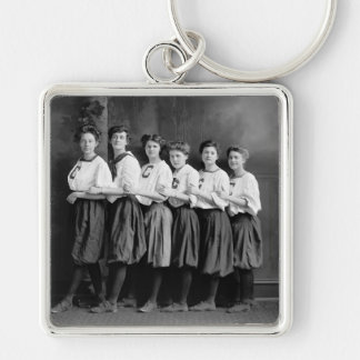 Girls in Bloomers, early 1900s Keychain