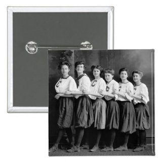 Girls in Bloomers, early 1900s Pinback Button