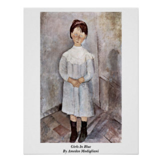 Girls In Blue By Amedeo Modigliani Poster