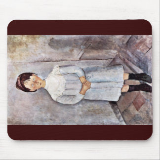 Girls In Blue By Modigliani Amedeo Mousepad