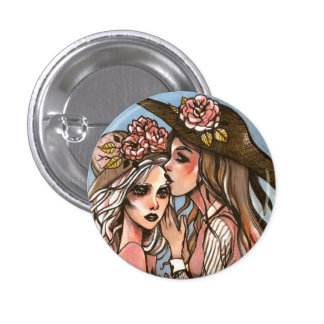 Girls in Hats Pin