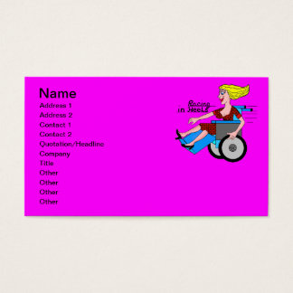 Girls in Heels need Wheelchairs Business Card