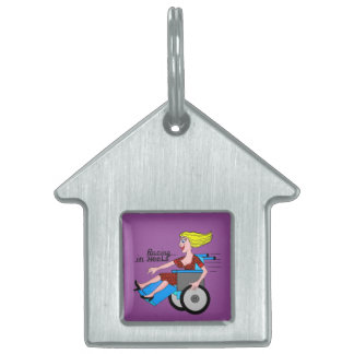 Girls in Heels need Wheelchairs Pet Name Tag