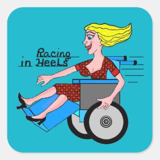 Girls in Heels need Wheelchairs Square Sticker