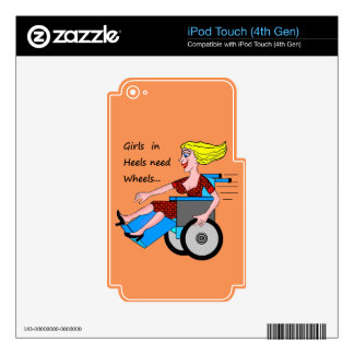 Girls in Heels need Wheels iPod Touch 4G Decals