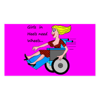 Girls in Heels Needs Wheels Double-Sided Standard Business Cards (Pack Of 100)