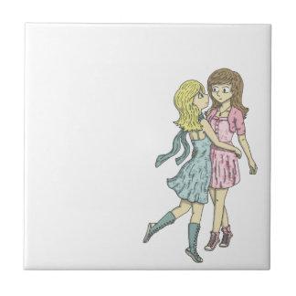 Girls in Pastel Tile