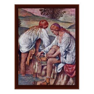 Girls In The Bath By Luini Bernardino Postcards