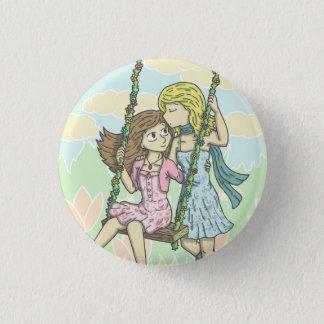 Girls in the Garden Button