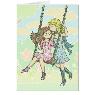 Girls in the Garden Card