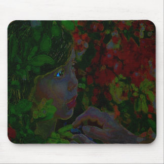 Girl's in Tropics Mouse Pad