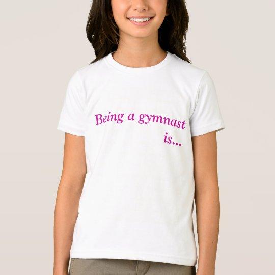 Girls inspirational gymnastic tee