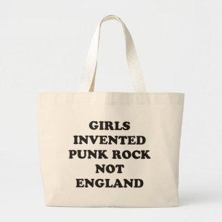 Girls Invented Punk Rock not England Jumbo Tote Bag