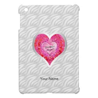 "Girl's Jeweled ""Sweet Angel? Heart"" iPad Mini Covers"