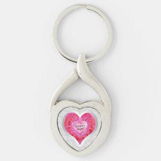 "Girl's Jeweled ""Sweet Angel? Heart"" Keychain"