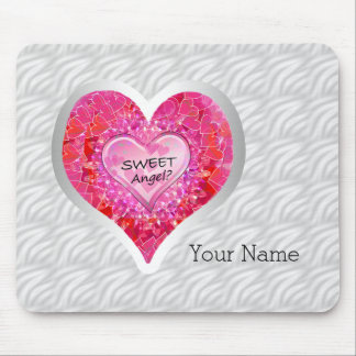 """Girl's Jeweled """"Sweet"""" Heart Mouse Pad"""