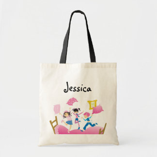 Girls Jumping on Bed Bag