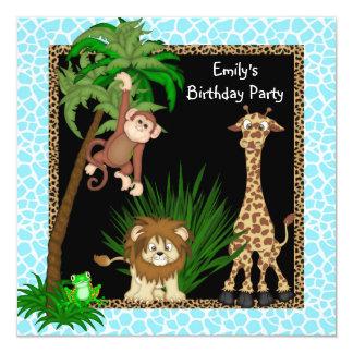 Girls Jungle Safari Birthday Party Invite