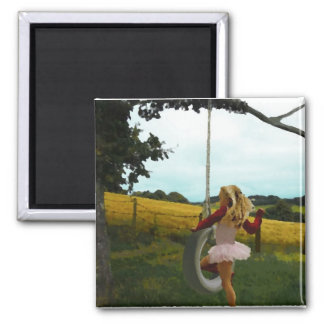 Girls Just Wanna Have Fun! 2 Inch Square Magnet