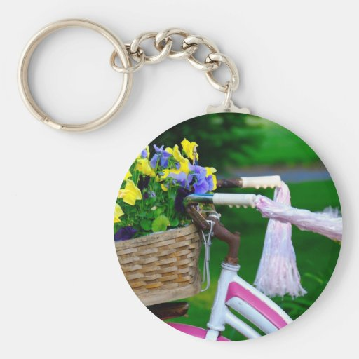 Girls Just Wanna Have Fun, Pink Girls Bicycle Keychain