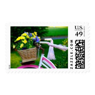 Girls Just Wanna Have Fun, Pink Girls Bicycle Stamp