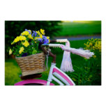 Girls Just Wanna Have Fun, Pink Girls Bicycle Poster