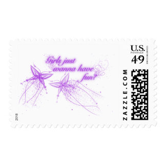 Girls Just Wanna Have Fun! Postage Stamps