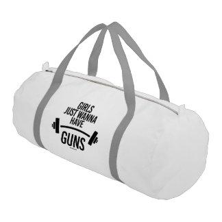 Girls just wanna have guns gym bag