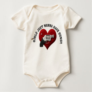 Girls Just Wanna Have Guns (infant) Baby Bodysuit