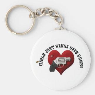 Girls Just Wanna Have Guns Key Chain