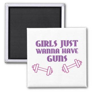 Girls Just Wanna Have Guns Fridge Magnet