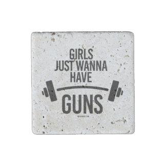 Girls just wanna have guns stone magnet