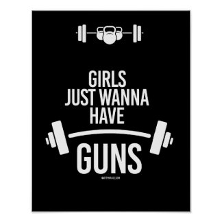 Girls just wanna have guns -   - Training Humor -. Poster