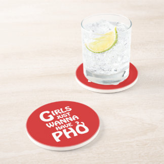 Girls Just Wanna Have Phở Sandstone Coaster