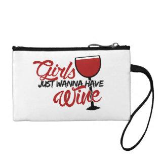 Girls just wanna have wine coin purse