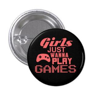 Girls Just Wanna Play Games Button