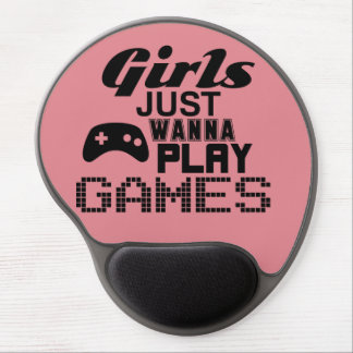 Girls Just Wanna Play Games Gel Mouse Pad
