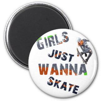 Girls just wanna skate magnet