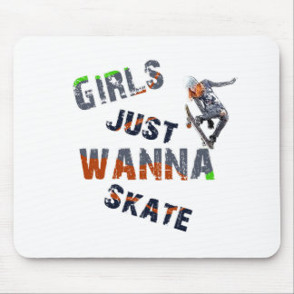 Girls just wanna skate mouse pad