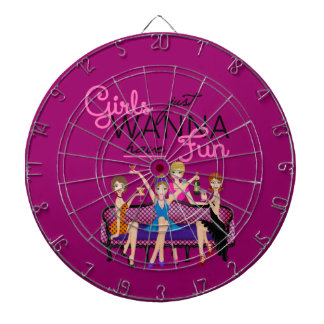 GIRLS JUST WANT TO HAVE FUN DART BOARD GIFTS