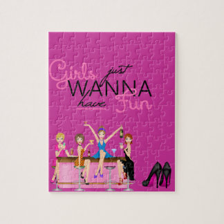 GIRLS JUST WANT TO HAVE FUN Puzzle GIFTS