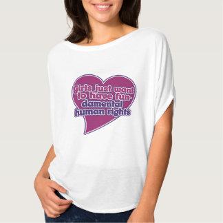Girls just want to have fundamental human rights tee shirt